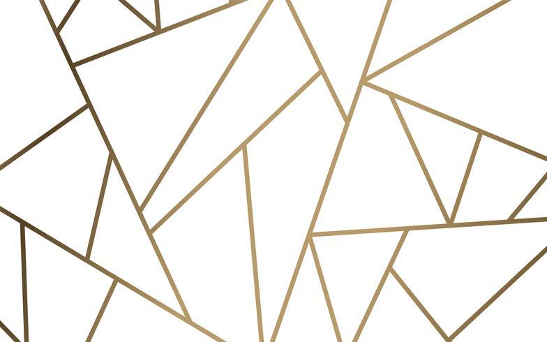 Papel pintado mosaico moderno en blanco y oro.