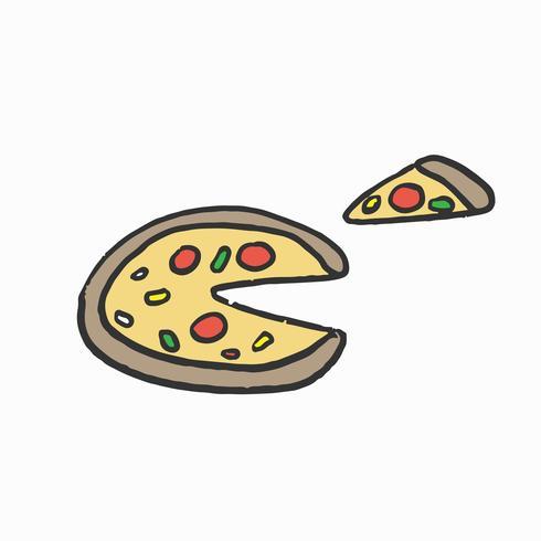 Ilustração gráfica de pizza de queijo italiano