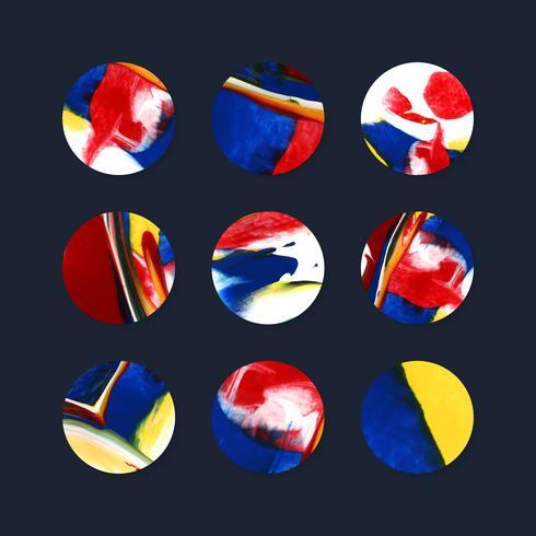 Distintivi colorati arte astratta