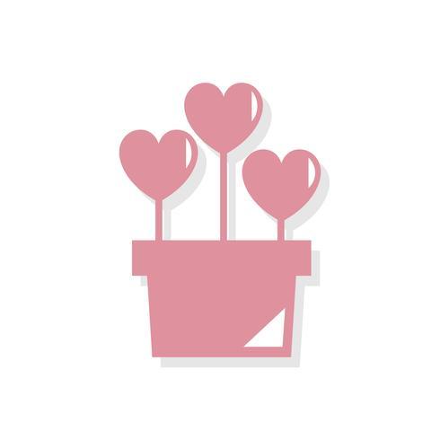 Blumentopf Valentinstag-Symbol