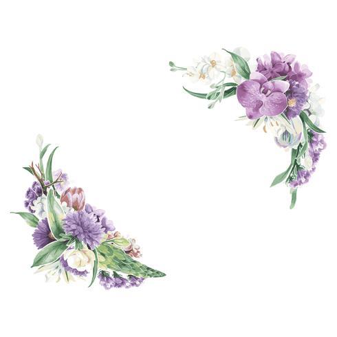Vintage blommiga ornament