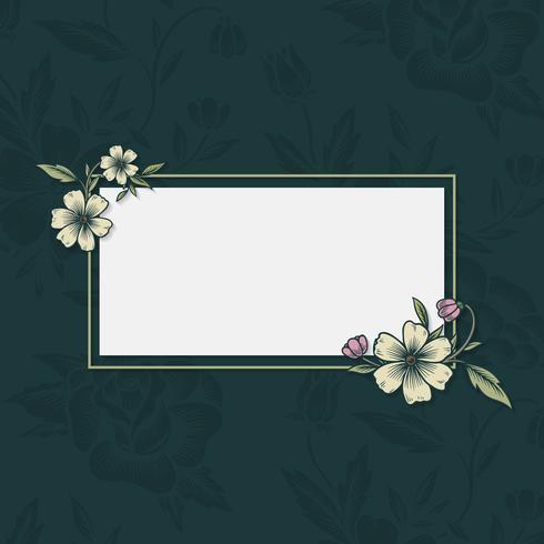 Marco floral de la vendimia