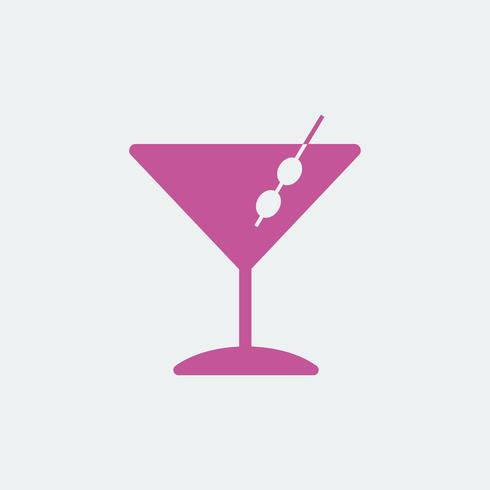 Martini cocktails glazen pictogram illustratie
