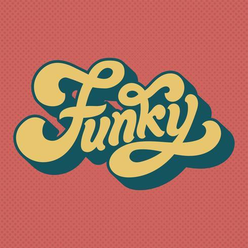 Illustrazione di stile di tipografia di parola funky