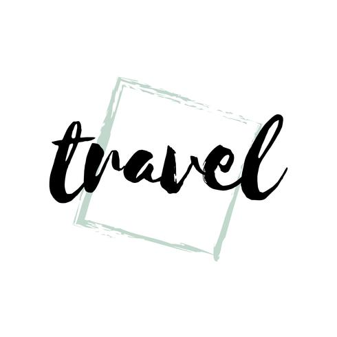 Tipografia de viagens ou logotipo vector
