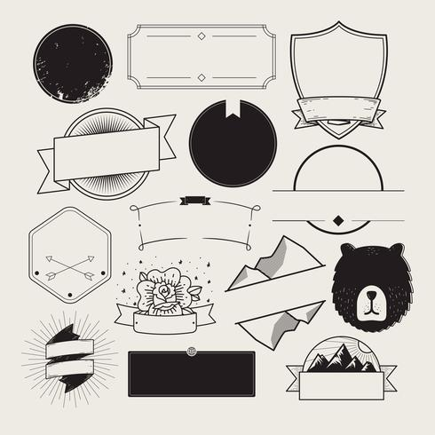 Set de badges illustrés