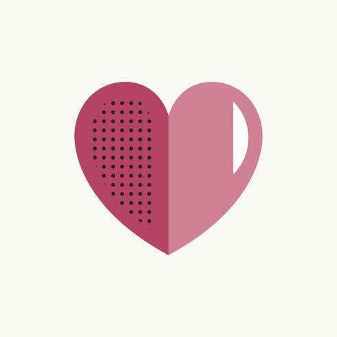 Valentines day Heart Love Conceito de símbolo de ícone