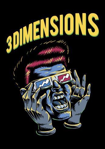 Filme de 3 dimensões esboçou a ilustração do personagem