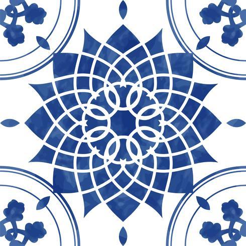 Vintage patterned tile