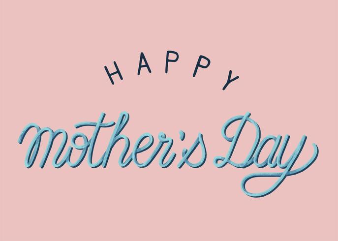 Handschriftliche Art der glücklichen Typografie der Mutter Tages
