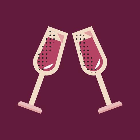 Champagne pictogram viering evenement Concept