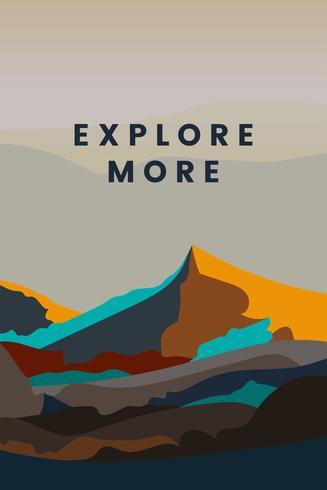 Esplora più design del paesaggio di montagna