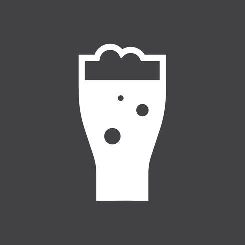 Pint van bier grafische illustratie