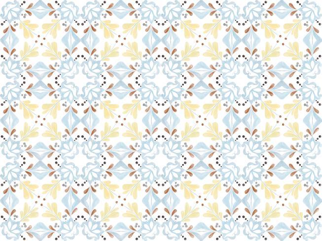Ilustración del patrón de azulejos con textura vector