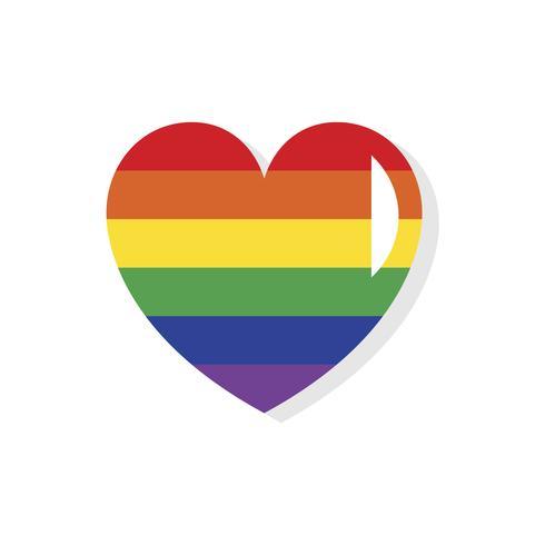 Icono del día de San Valentín lgbt de forma de corazón