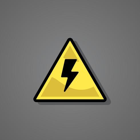 Ilustração de sinal de aviso de raio de iluminação