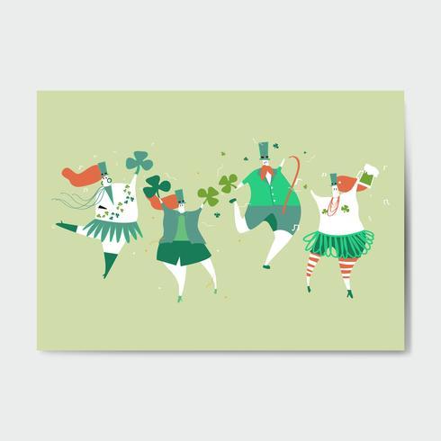 St Patrick dag illustration