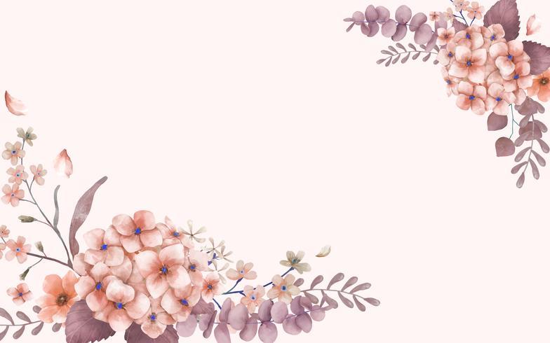 Hälsningskort med rosa och blommigt tema