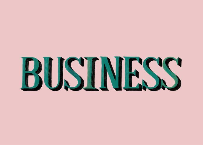 Stile scritto a mano di tipografia aziendale