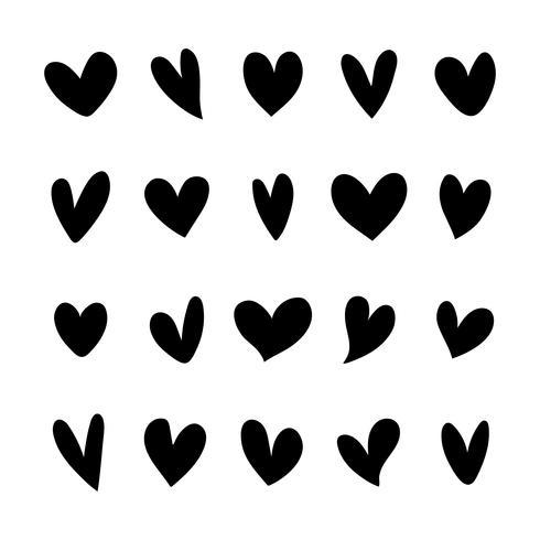 Collection d'icônes de coeur illustrées
