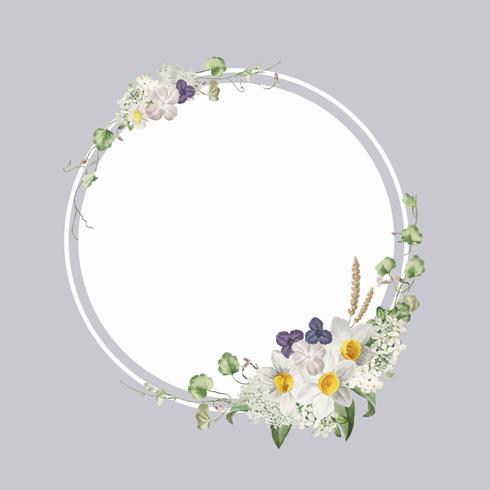 Dekorerad blommig ram