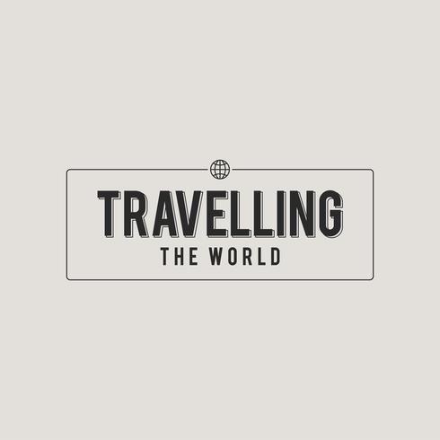 illustrazione dell'icona di viaggio concpet