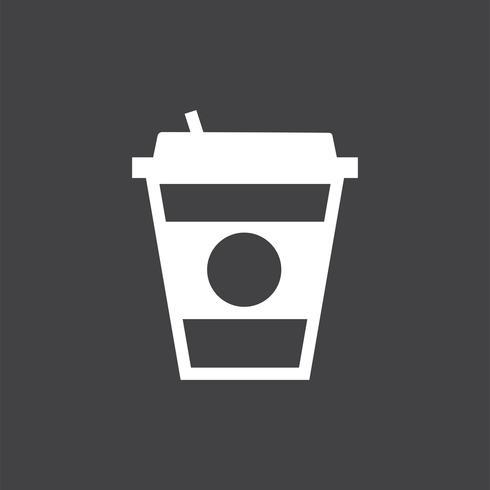 Takeaway coffee mug graphic illustration
