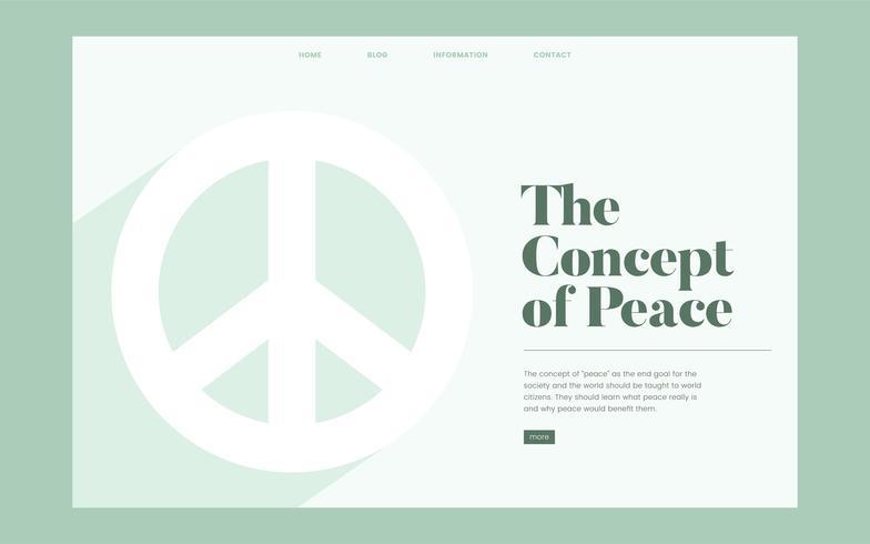 Site Web d'information sur la paix et la liberté