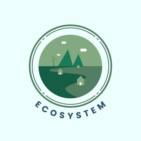 Ecosysteem en natuur pictogram vector