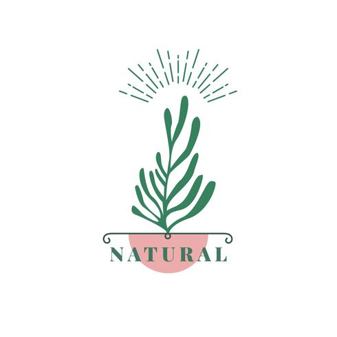 Natuurlijk en biologisch product pictogram