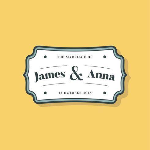 Insignia de invitación de boda de estilo clásico