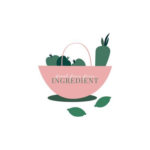 Logo von gesunden organischen Bestandteilen