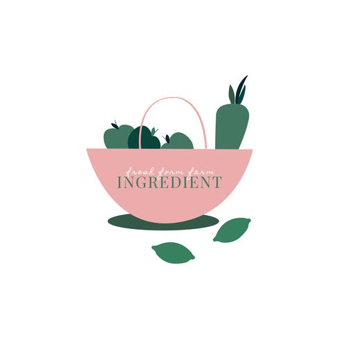 Logo of healthy organic ingredients