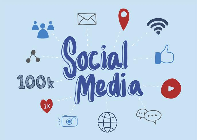 Ilustração de mídia social