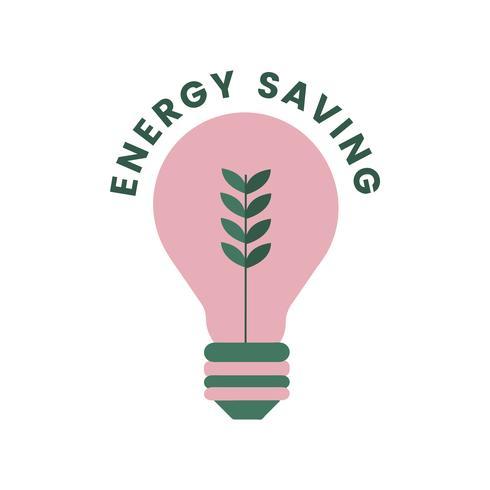 Icona di risparmio energia ed energia