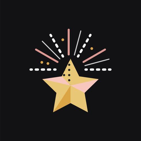 Concept de célébration de feux d'artifice étoiles
