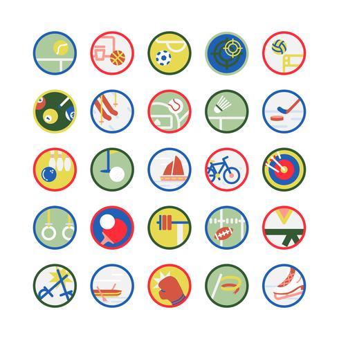 Illustration ensemble d'icônes de sport