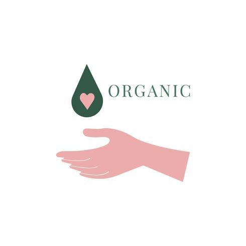 Diseño de logo de belleza orgánica y natural.