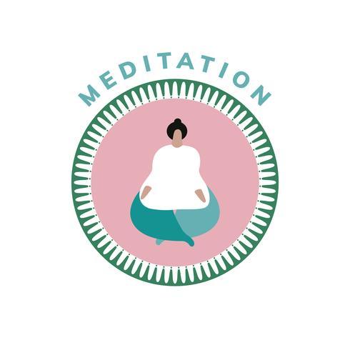 Icono de yoga y meditación de bienestar