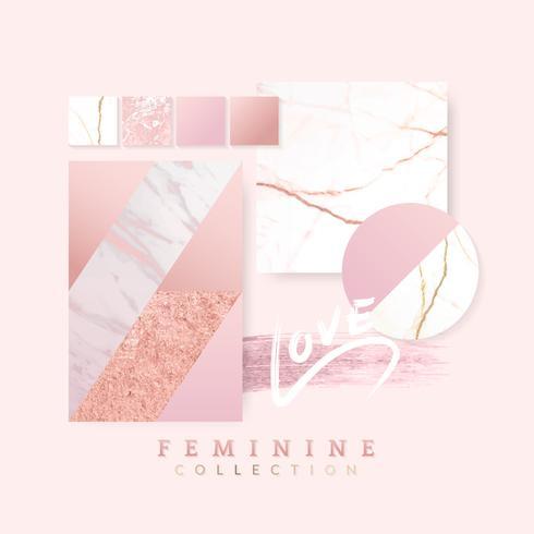 Feminine pink layout design