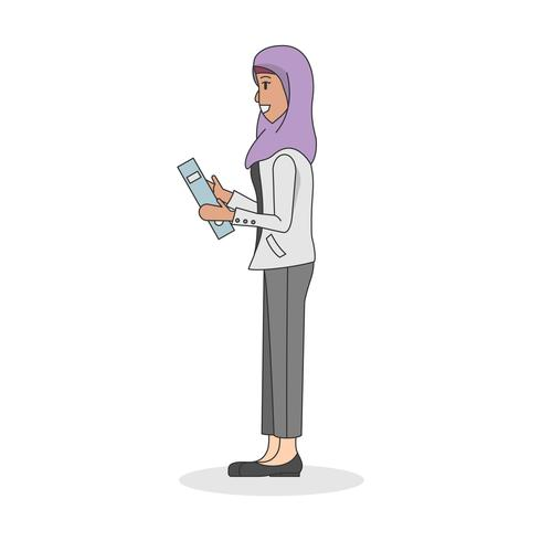 Illustration of a woman wearing a hijab
