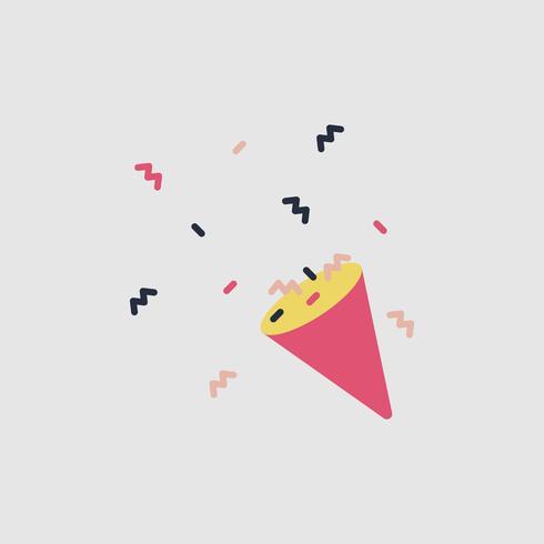 Ilustración del icono del partido popper
