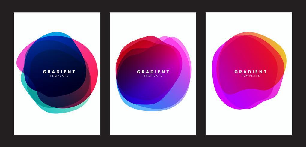 Kleurrijk de afficheontwerp van het gradiënthema
