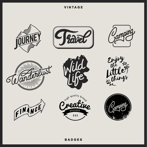 Illustration av märkesamling