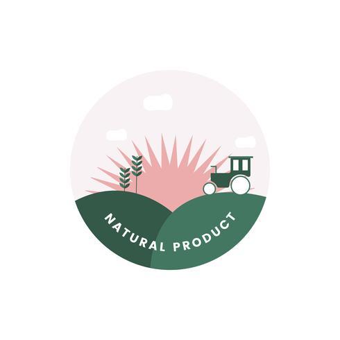 Logotipo de produto natural orgânico