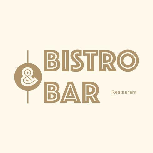 Ontwerp van het restaurantmerk