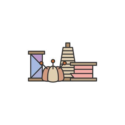 Ilustración de conjunto de herramientas de costura