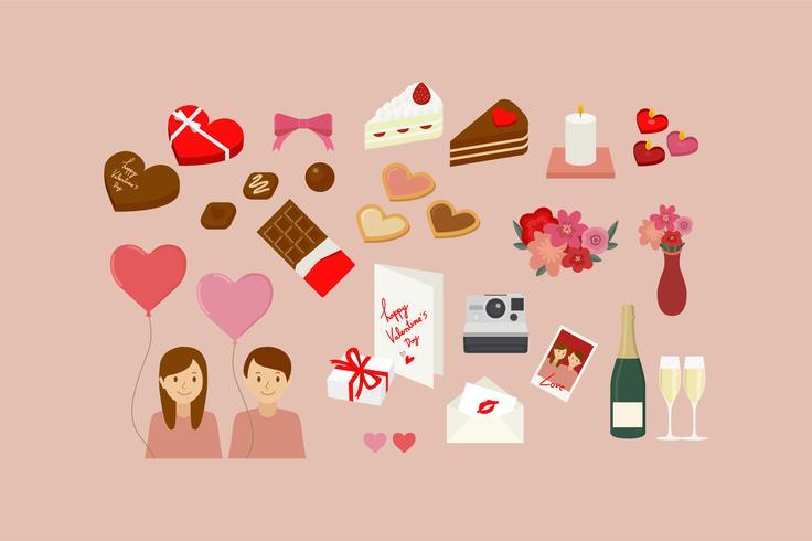 Cosas de San Valentín aislado