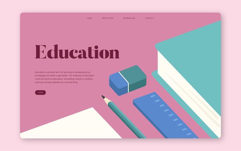 Éducation et apprentissage graphique de site Web d'information