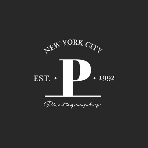 Illustration of photo studio stamp banner
